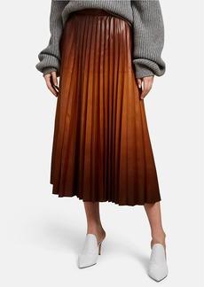 Givenchy Women's Pleated Dégradé Leather Midi-Skirt