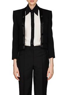 Givenchy Women's Satin-Trimmed Wool Twill Crop Blazer