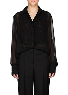Givenchy Women's Sequin-Embellished Silk Blouse