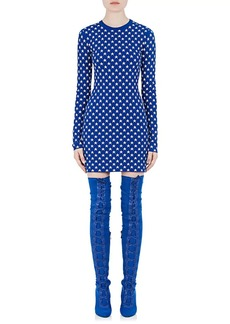 Givenchy Women's Star-Pattern Jacquard Fitted Dress