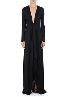 Givenchy Women's Tie-Detailed Jersey Gown