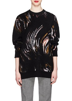 Givenchy Women's Wave-Pattern Wool-Blend Oversized Sweater