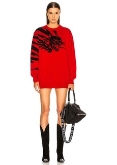 Givenchy Wool Jacquard Animal Faces Sweater
