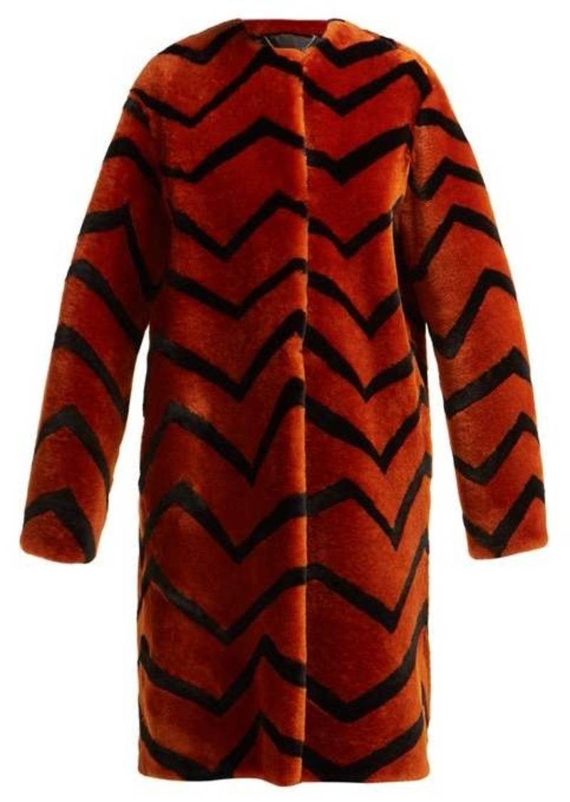 Givenchy Zigzag shearling coat