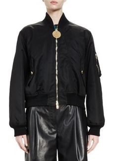 Givenchy Zip-Front Nylon Bomber Jacket
