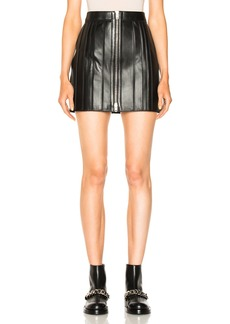 Givenchy Zip Trim Leather Skirt