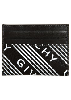 Givenchy Logo Band Leather Card Case
