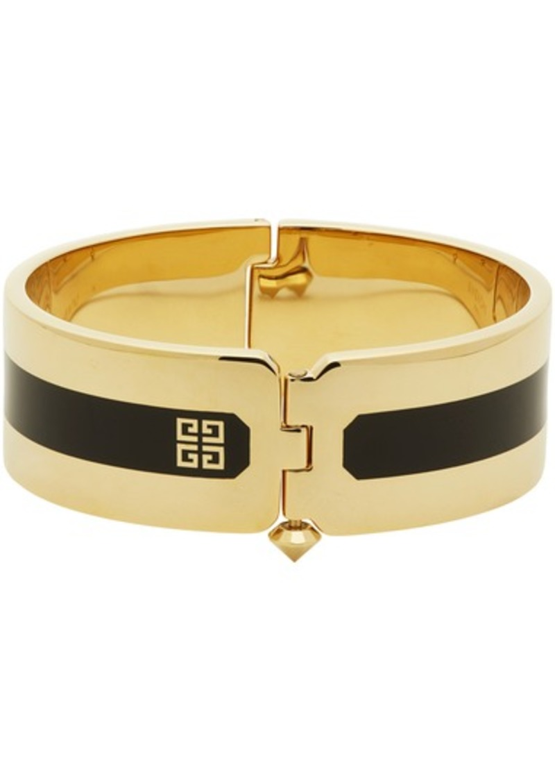 Givenchy Gold & Black Simple Cuff Bracelet