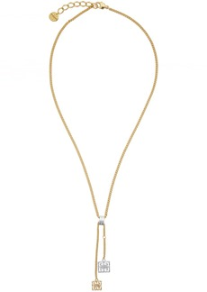 Givenchy Gold & Silver Two-Tone 4G Pendant Necklace