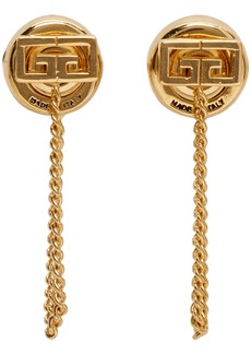 Givenchy Gold Small 'GV' Earrings