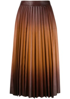 Givenchy gradient pleated midi skirt