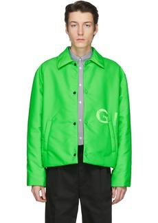 Givenchy Green Short Padded Coach Jacket
