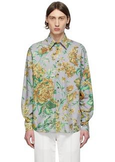 Givenchy Grey Flower Printed Shirt