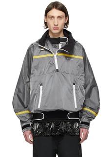 Givenchy Grey Tech Pullover Jacket