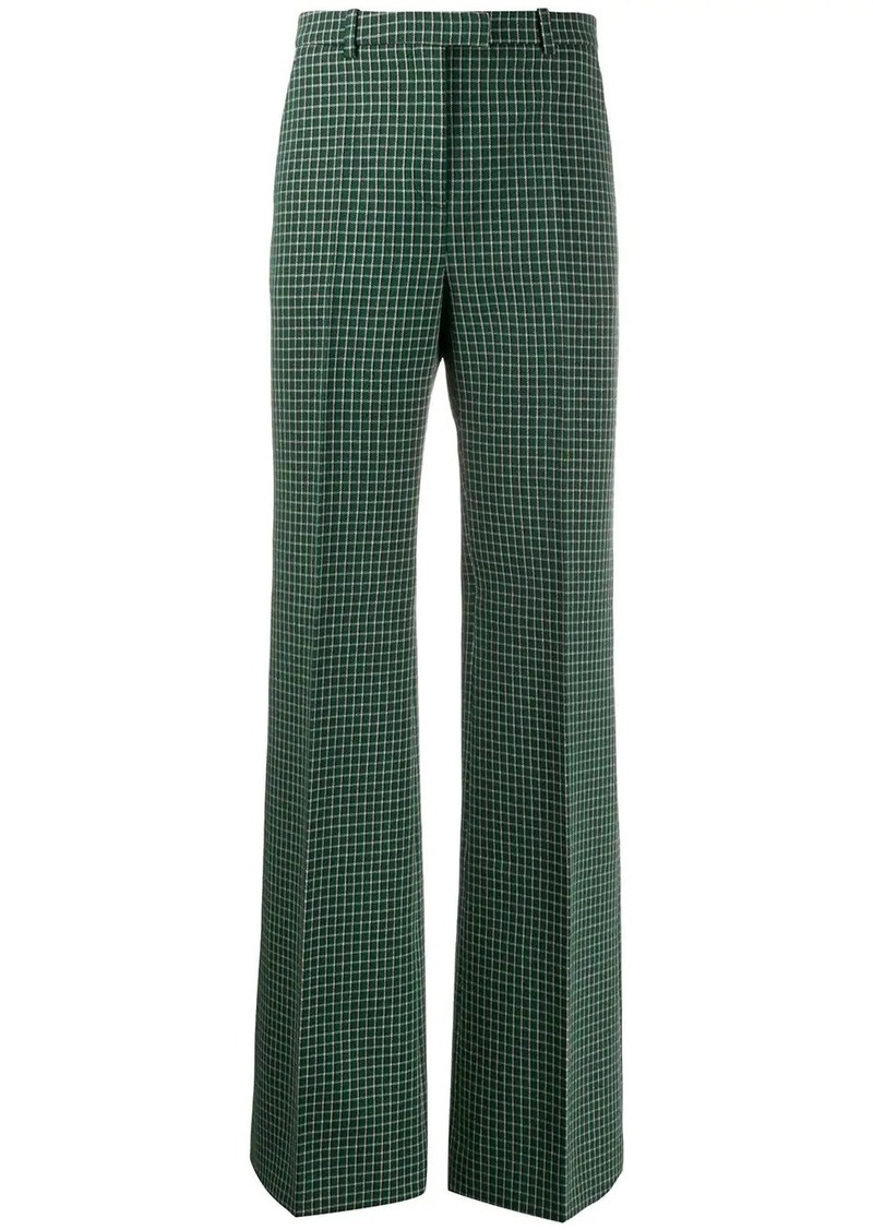 Givenchy grid check trousers