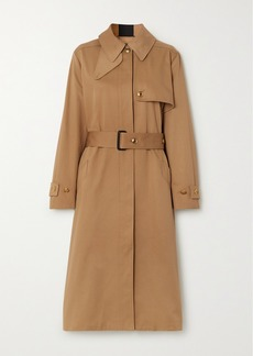Givenchy Grosgrain-trimmed Cotton-gabardine Trench Coat