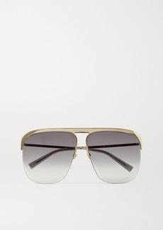 Givenchy Gv Oversized D-frame Gold-tone Sunglasses