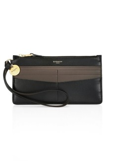 Givenchy GV3 Bicolor Leather Wristlet