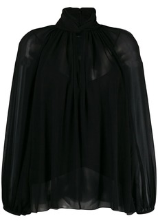 Givenchy hang collar blouse