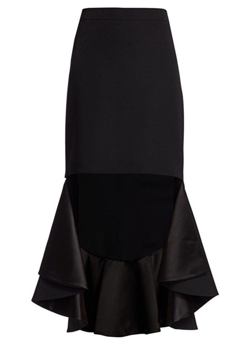 Givenchy High-Low Midi Skirt