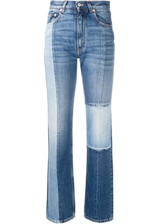 Givenchy high-rise straight-leg patchwork jeans
