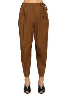 Givenchy High Waist Cotton Canvas Cargo Pants