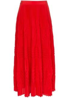 Givenchy high waist geometric pleated skirt
