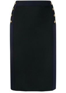 Givenchy high-waisted two-tone skirt