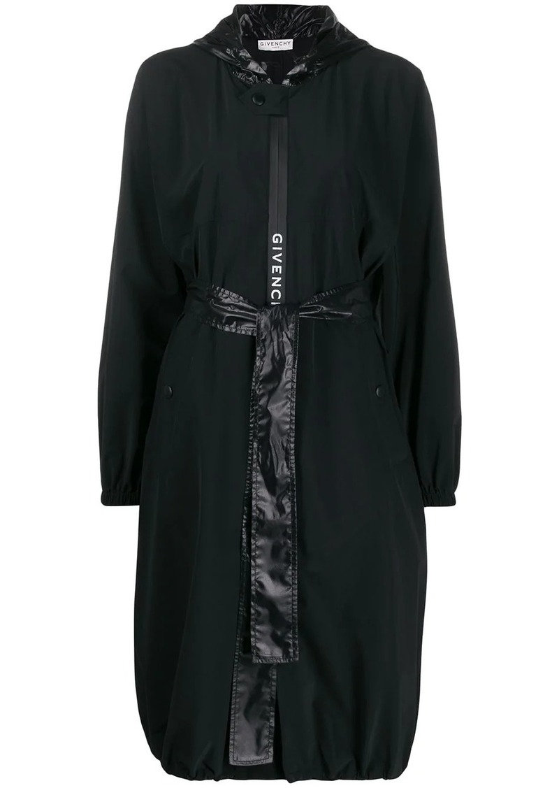 Givenchy hooded belted raincoat