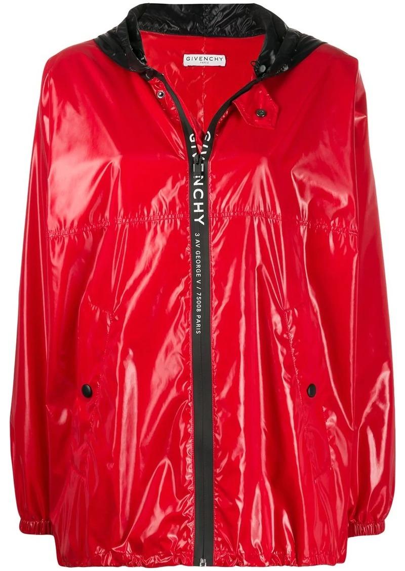 Givenchy hooded zipped rain jacket