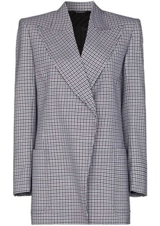 Givenchy houndstooth-pattern wool blazer