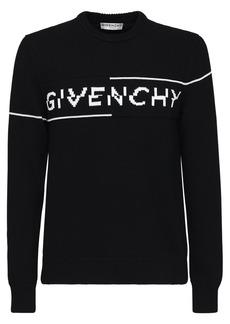 Givenchy Intarsia Cotton Logo Split Sweater