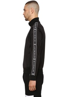 Givenchy Jersey Jacket W/ Logo Side Bands