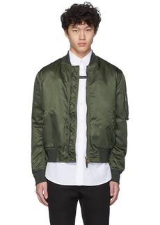Givenchy Khaki Button Bomber Jacket