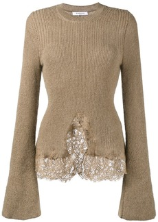 Givenchy knitted lace hem jumper