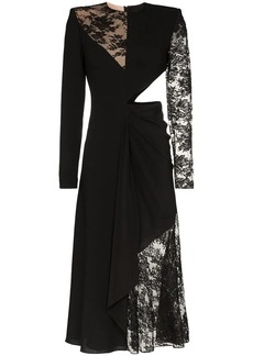 Givenchy lace insert cut out midi dress