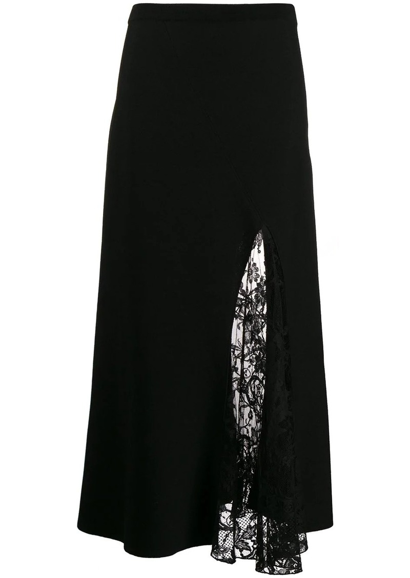 Givenchy lace panel skirt