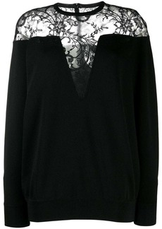 Givenchy lace panel sweater