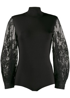 Givenchy lace sleeve bodysuit