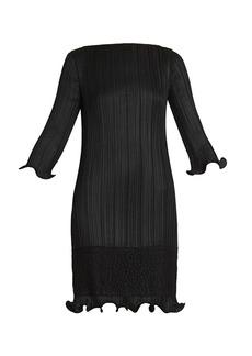 Givenchy Lace-Trim Plissé Dress
