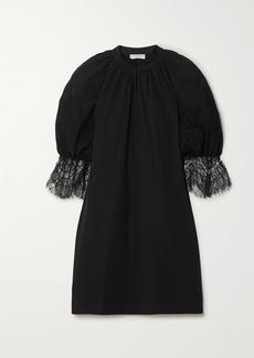 Givenchy Lace-trimmed Cotton-poplin Mini Dress