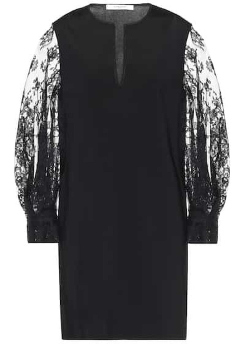 Givenchy Lace-trimmed minidress