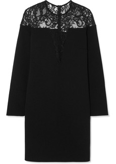 Givenchy Lace-trimmed Stretch-crepe Mini Dress
