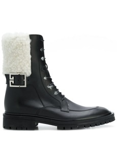 Givenchy lace-up biker boots