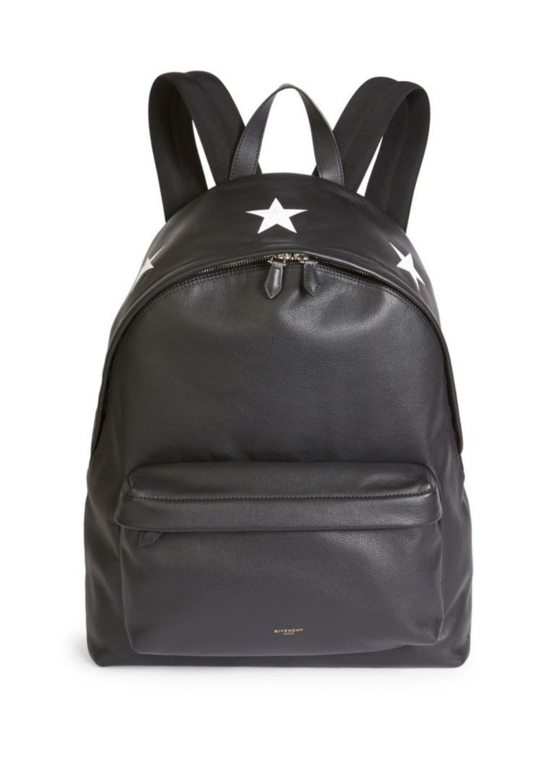 aac4a0930e Givenchy Large Star Leather Backpack