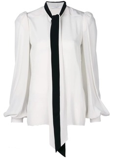 Givenchy lavalliere collar blouse