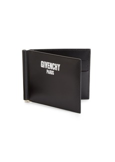 Givenchy Leather Bi-Fold Clip Wallet