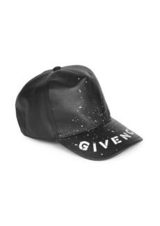 Givenchy Leather Logo Basebal Cap