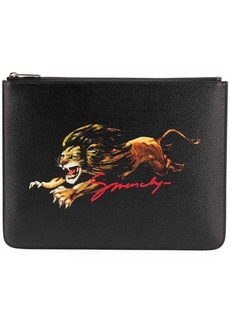 Givenchy Leo zipped clutch