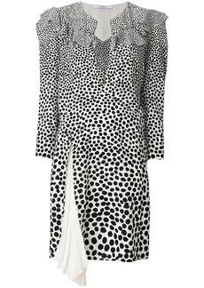 Givenchy leopard print split neck dress